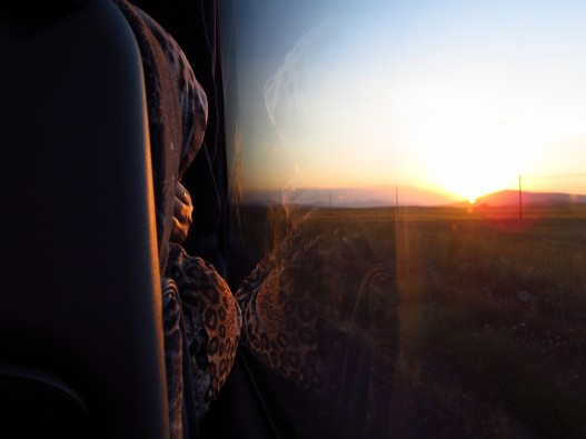 Bus window photography at sunset.  Somewhere between Nevsehir and Konya.